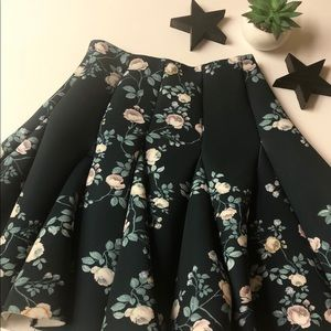 Gorgeous Green Floral Skirt!